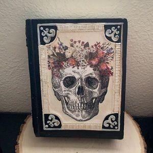 Skeleton Ashland Floral Magic Book Halloween Decor